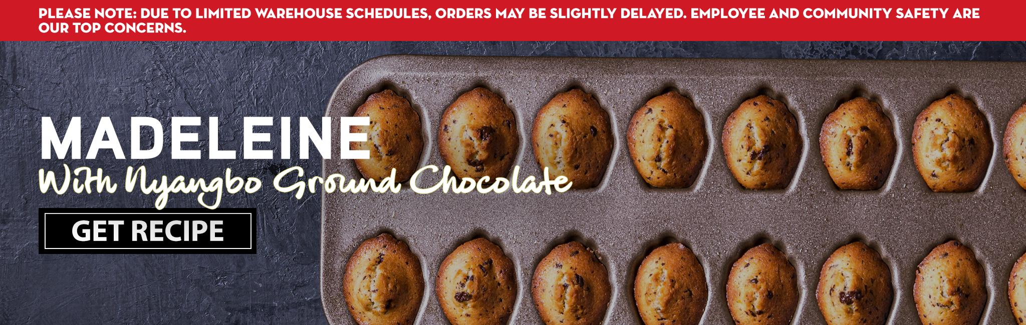 MADELEINE WITH NYANGBO GROUND CHOCOLATE RECIPE