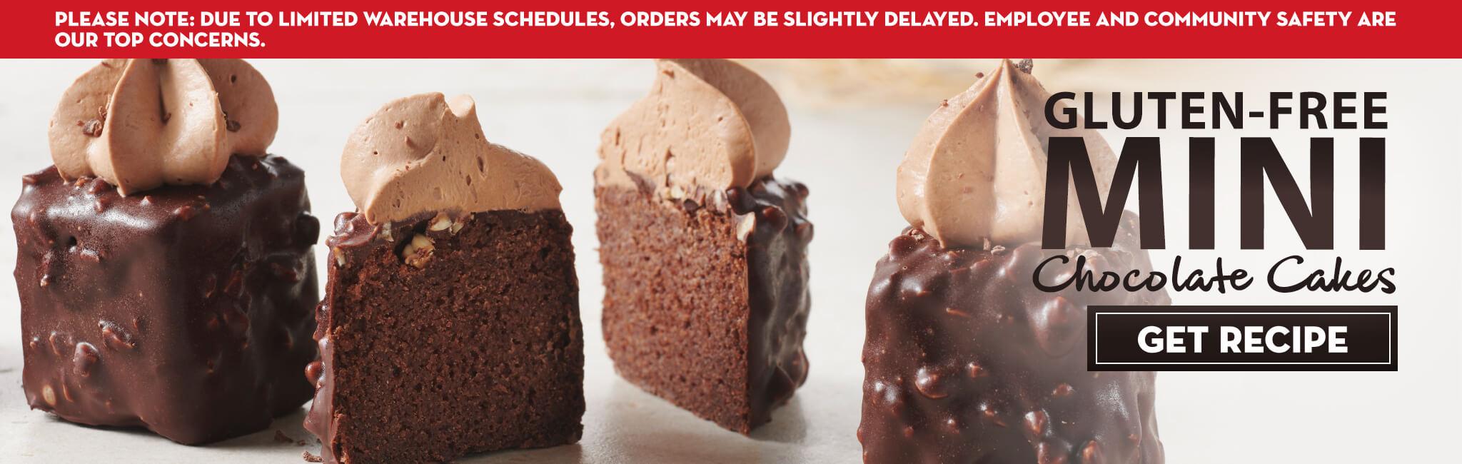 MINI GLUTEN-FREE CHOCOLATE CAKE RECIPE