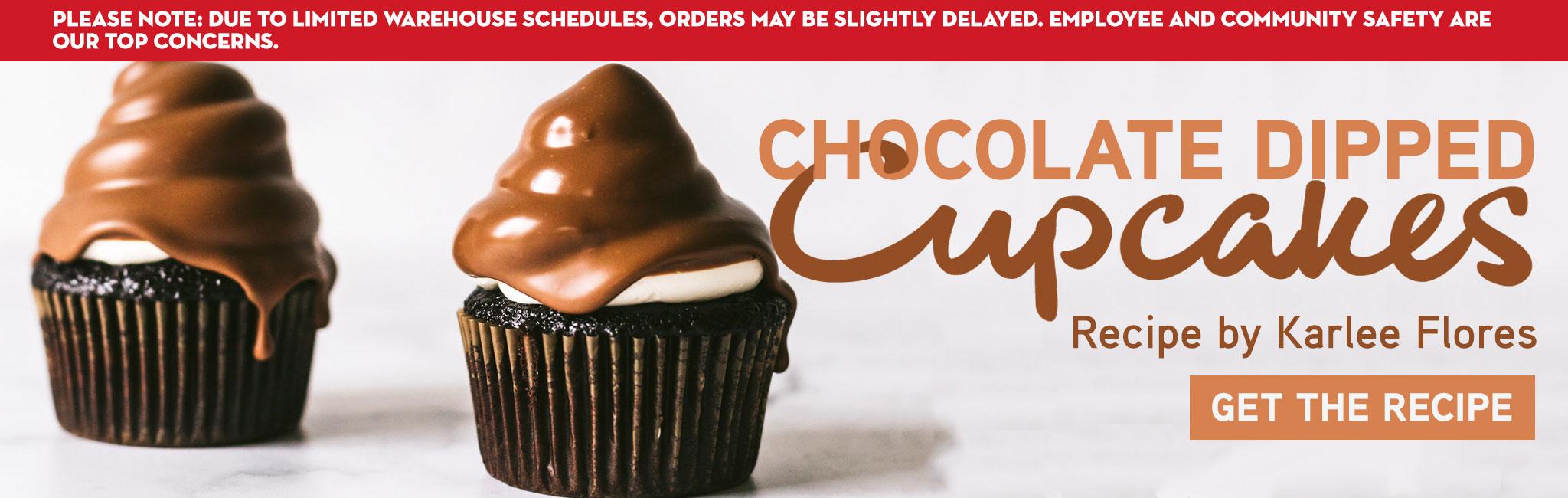 CHOCOLATE DIPPED CUPCAKES