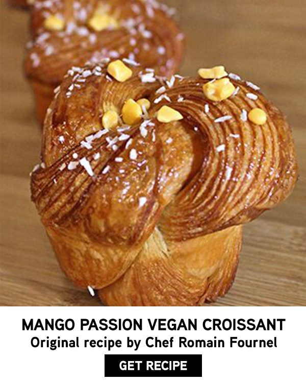 tropical inspiration vegan croissant