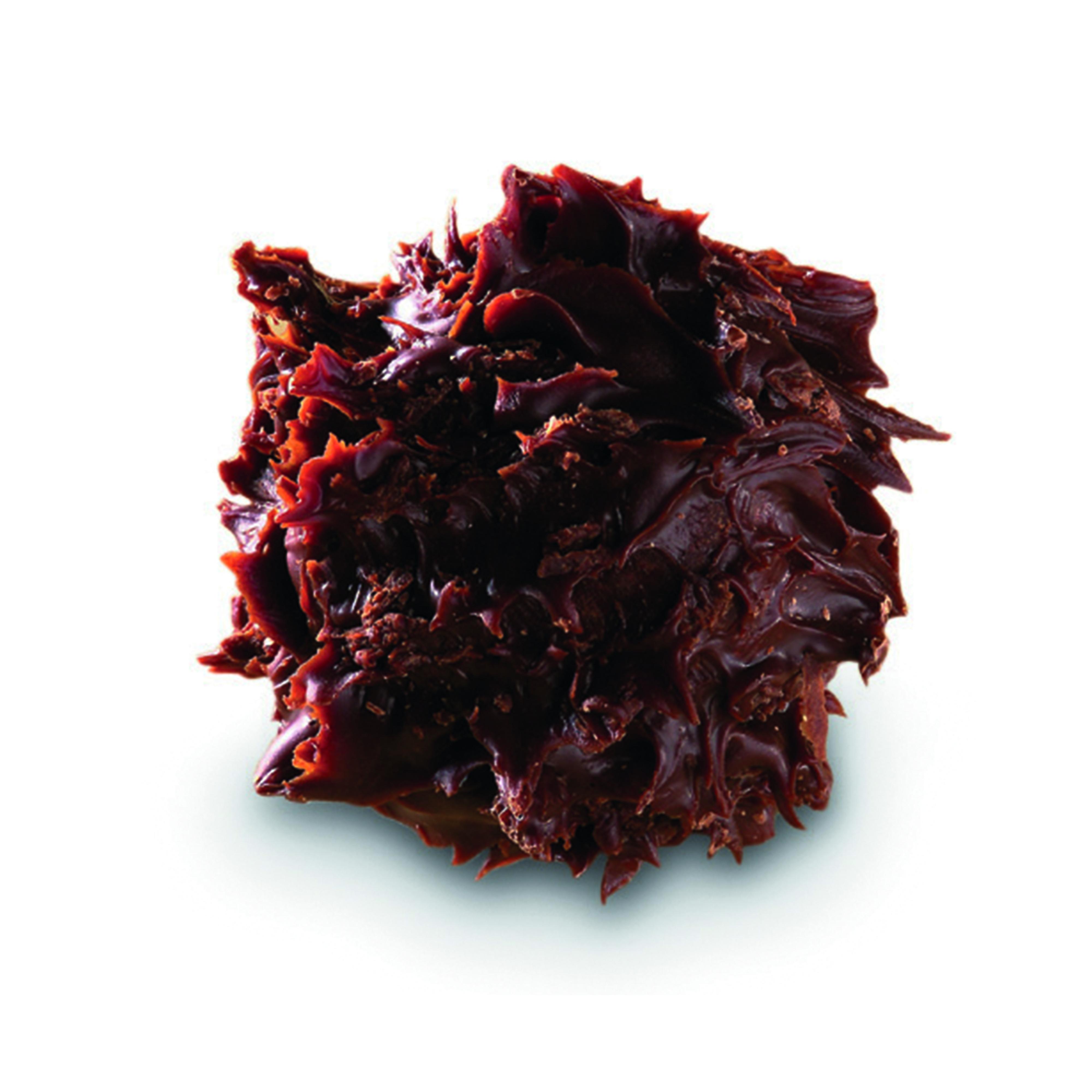 CHARDON POIRE - Chardon à l'eau-de-vie de Poire Williams (45°), enrobée de chocolat noir pour un mélange intense aux notes fruitées.