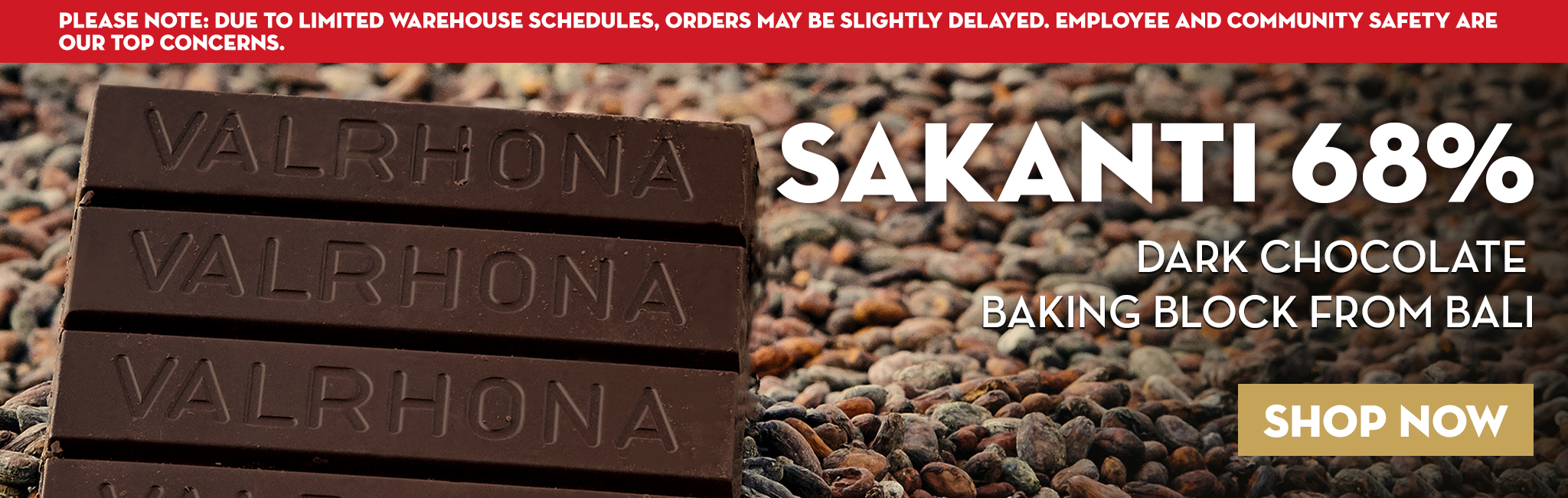 DARK CHOCOLATE  BAKING BLOCK FROM BALI