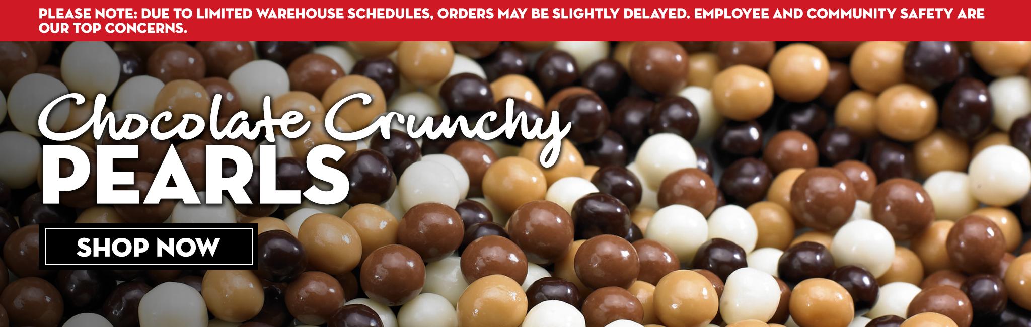 CHOCOLATE CRUNCHY PEARLS