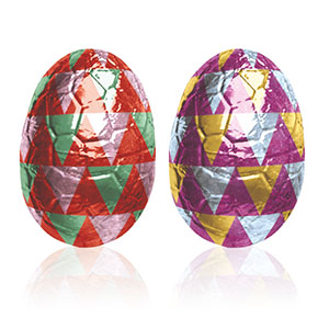 PRALINE DARK CHOCOLATE WRAPPED EGG